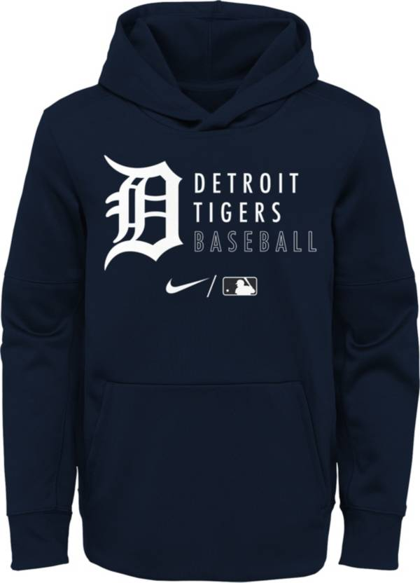 Nike Youth Detroit Tigers Navy Therma-FIT Hoodie product image