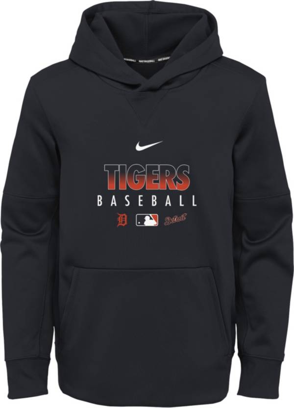 Nike Youth Detroit Tigers Navy Dri-FIT Therma Pullover Hoodie product image