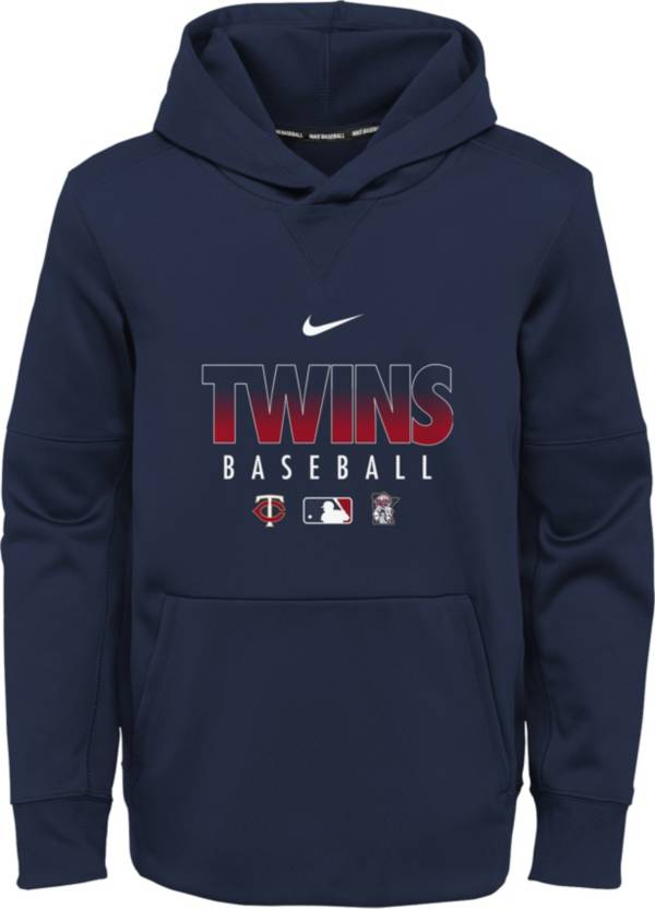 Nike Youth Minnesota Twins Navy Dri-FIT Therma Pullover Hoodie product image