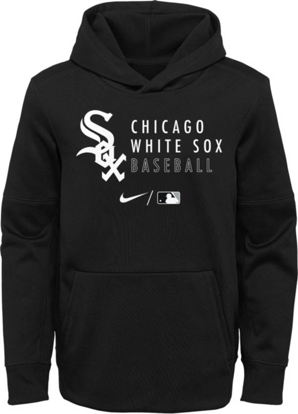 Nike Youth Chicago White Sox Sideline Therma-FIT Black Pullover Hoodie product image