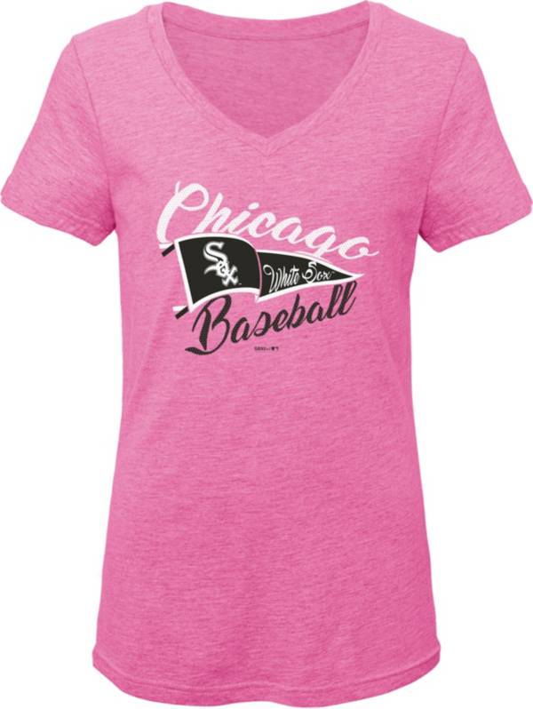 Gen2 Youth Girls' Chicago White Sox Pink Fly the Flag V-Neck T-Shirt product image