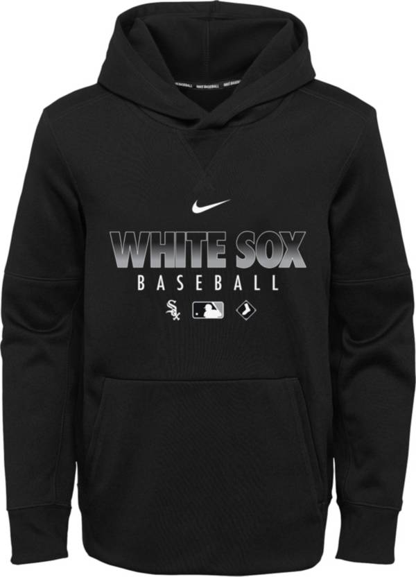 Nike Youth Chicago White Sox Black Dri-FIT Therma Pullover Hoodie product image