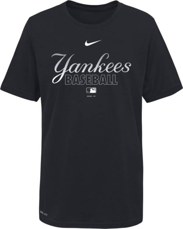 Nike Youth New York Yankees Navy Dri-FIT Baseball T-Shirt product image