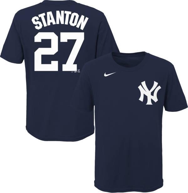 Nike Youth New York Yankees Giancarlo Stanton #27 Navy T-Shirt product image