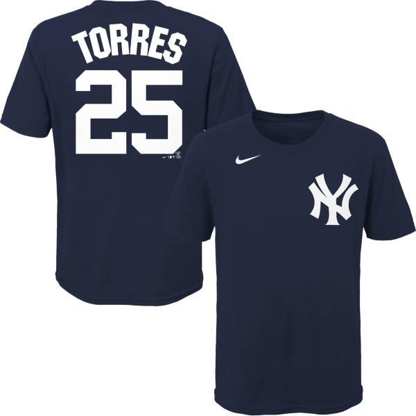 Nike Youth New York Yankees Gleyber Torres #25 Navy T-Shirt product image