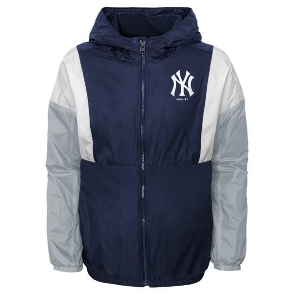 Gen2 Youth New York Yankees Navy Long Sleeve Windbreaker Jacket product image