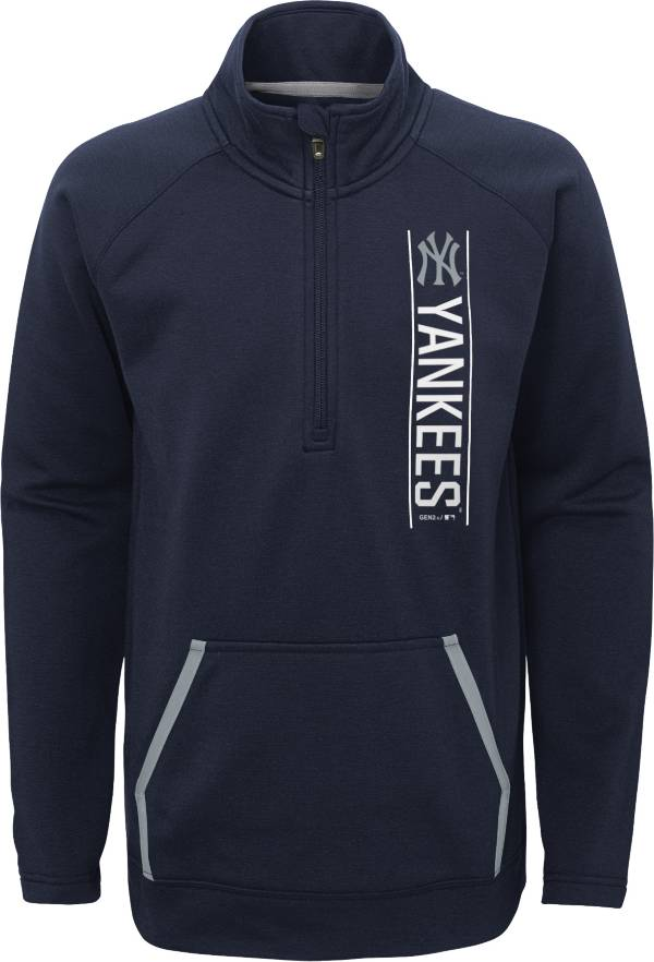 Gen2 Youth New York Yankees Navy Stealth Mode Long Sleeve Quarter-Zip Shirt product image