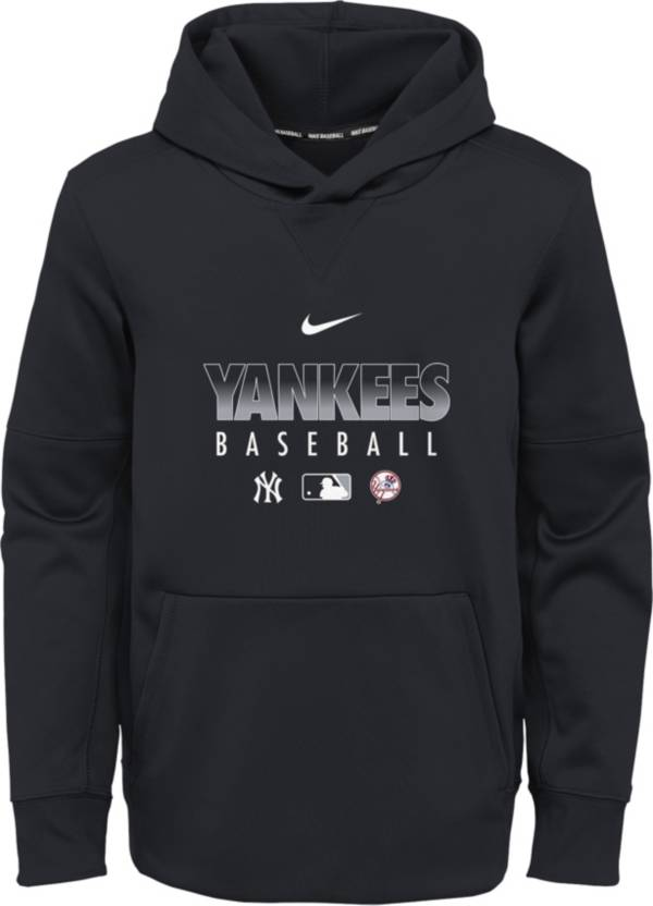 Nike Youth New York Yankees Navy Dri-FIT Therma Pullover Hoodie product image