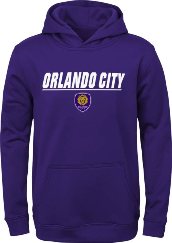 MLS Youth Orlando City Static Purple Performance Pullover Hoodie product image