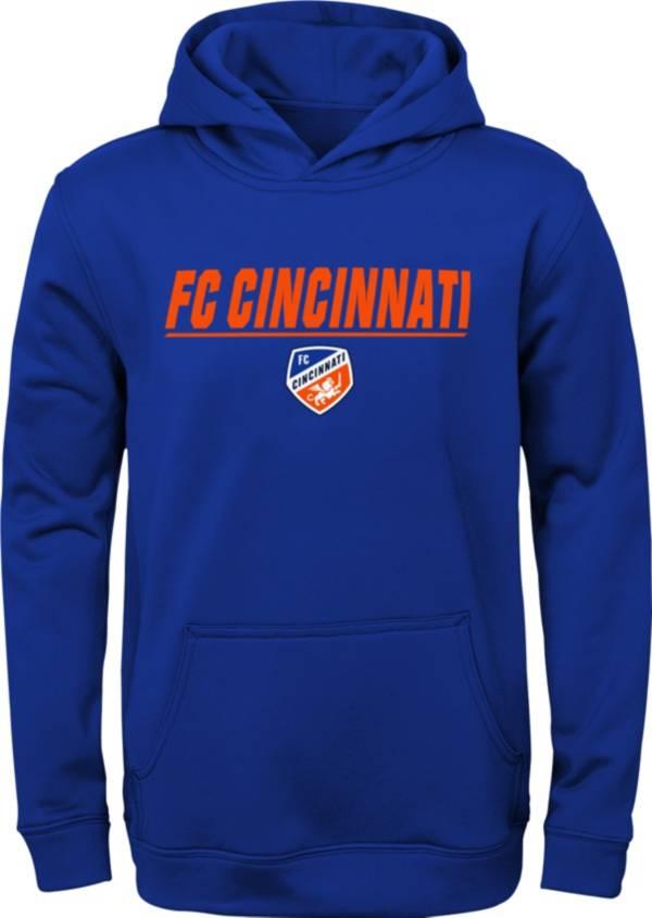 MLS Youth FC Cincinnati Static Blue Performance Pullover Hoodie product image