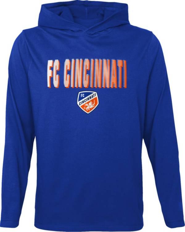 Outerstuff Youth FC Cincinnati Blocker Royal Long Sleeve Hoodie product image