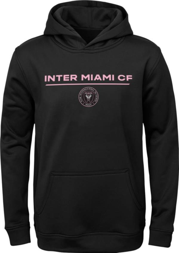 MLS Youth Inter Miami CF Static Black Performance Pullover Hoodie product image