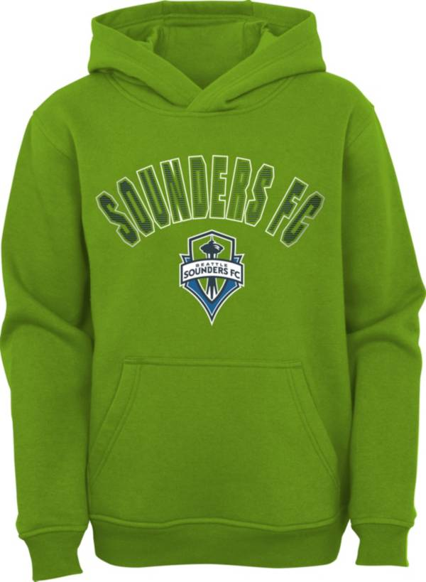 MLS Youth Seattle Sounders Blocker Green Pullover Hoodie product image