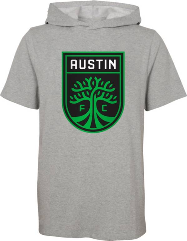 Outerstuff Youth Austin FC On Guard Grey Short Sleeve Hoodie product image