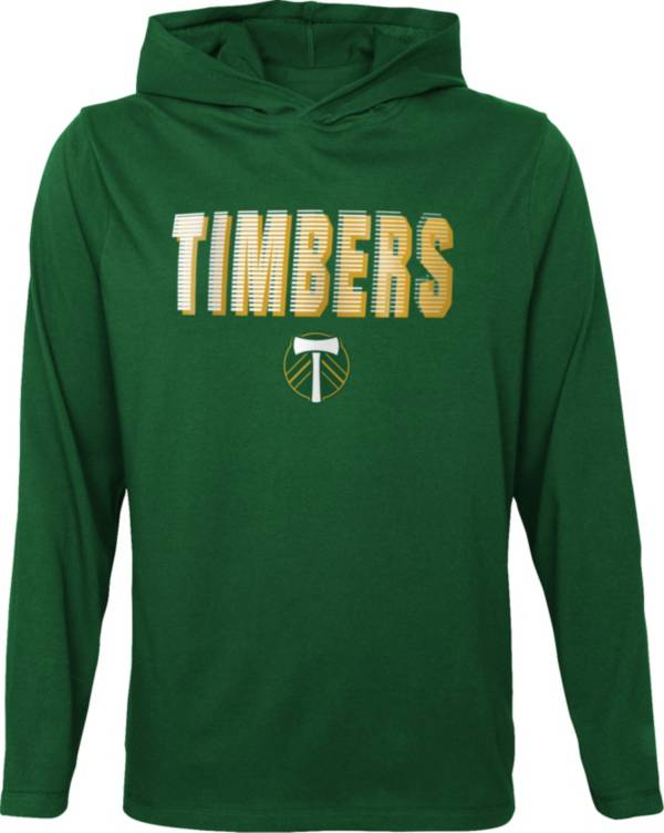 Outerstuff Youth Portland Timbers Blocker Green Long Sleeve Hoodie product image