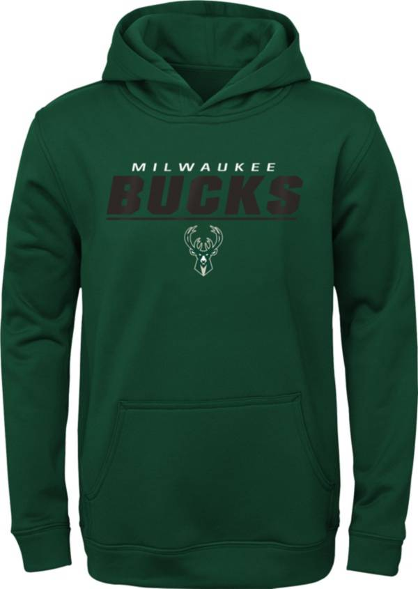 Gen2 Youth Milwaukee Bucks Black Static Pullover Hoodie product image