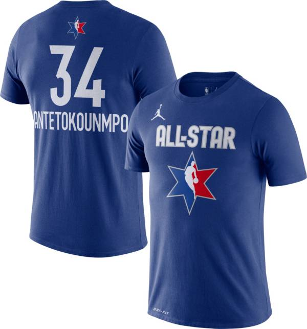 Jordan Youth 2020 NBA All-Star Game Giannis Antetokounmpo Dri-FIT Blue T-Shirt product image
