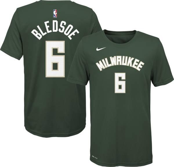 Nike Youth Milwaukee Bucks Eric Bledsoe #6 Green Dri-FIT Icon T-Shirt product image