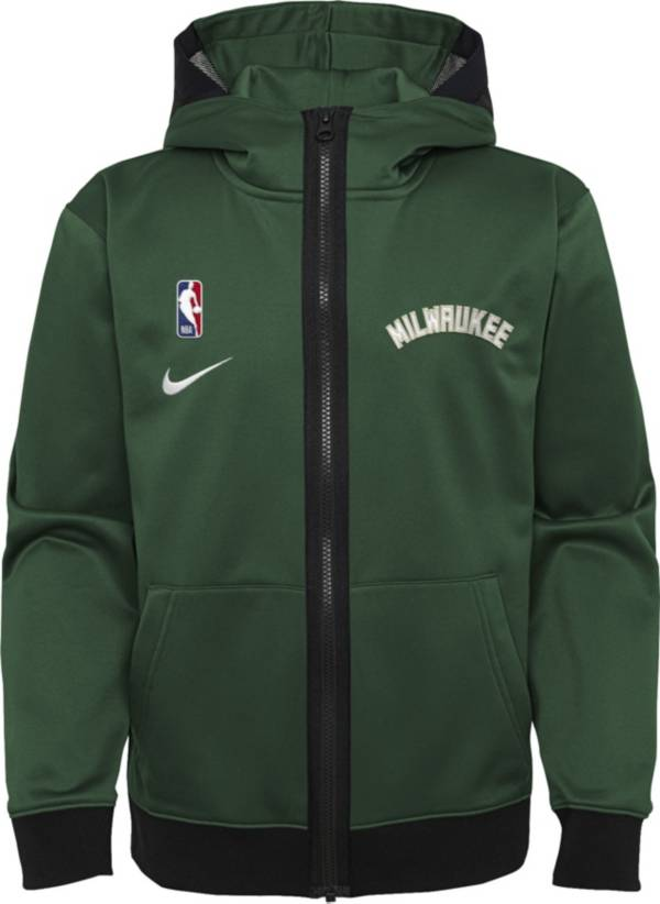 Nike Youth Milwaukee Bucks Green Spotlight Full-Zip Hoodie product image