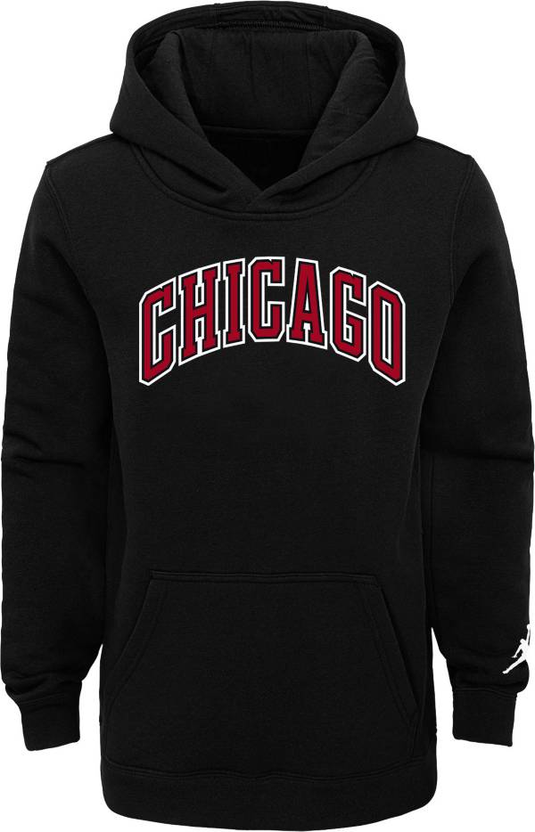 Jordan Youth Chicago Bulls Black Statement Pullover Hoodie product image