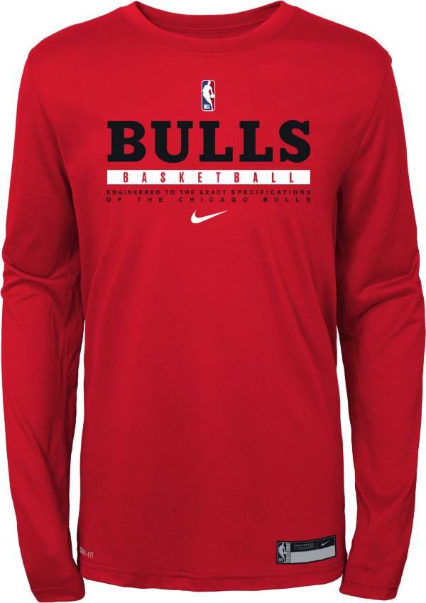 Nike Youth Chicago Bulls Practice Performance Long Sleeve T-Shirt product image