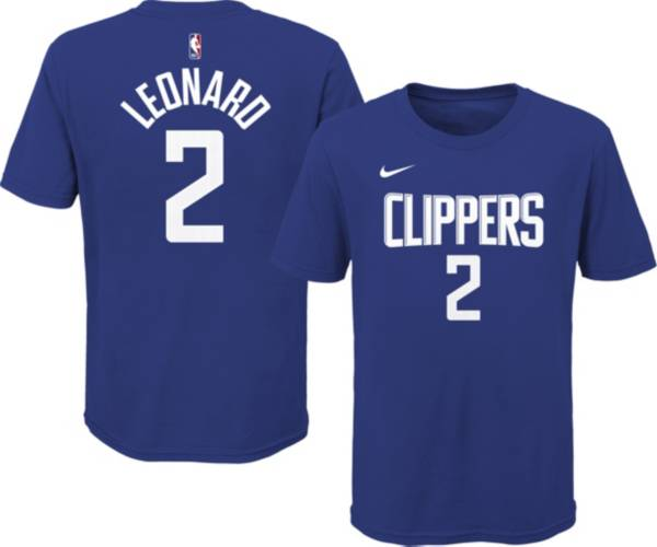 Nike Youth Los Angeles Clippers Kawhi Leonard #2 Blue Cotton T-Shirt product image