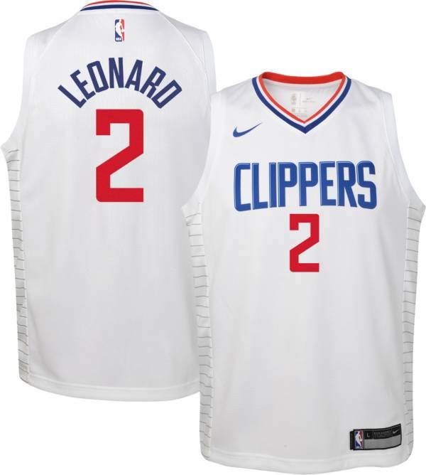 Nike Youth Los Angeles Clippers Kawhi Leonard #2 Dri-FIT Swingman White Jersey product image