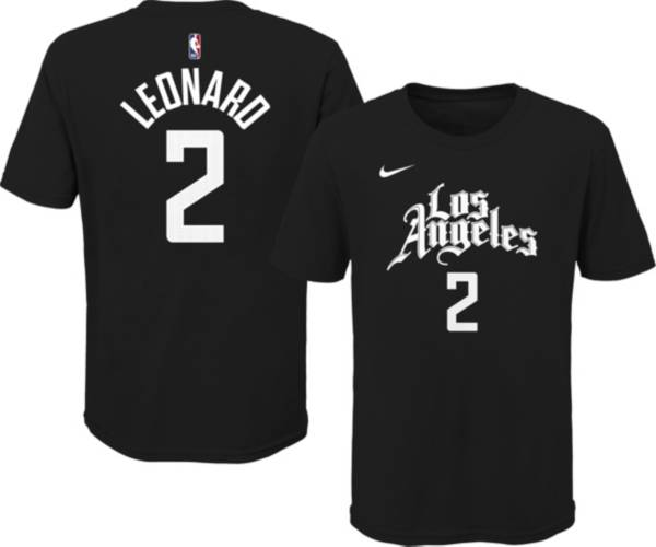 Nike Youth 2020-21 City Edition Los Angeles Clippers Kawhi Leonard #2 Cotton T-Shirt product image