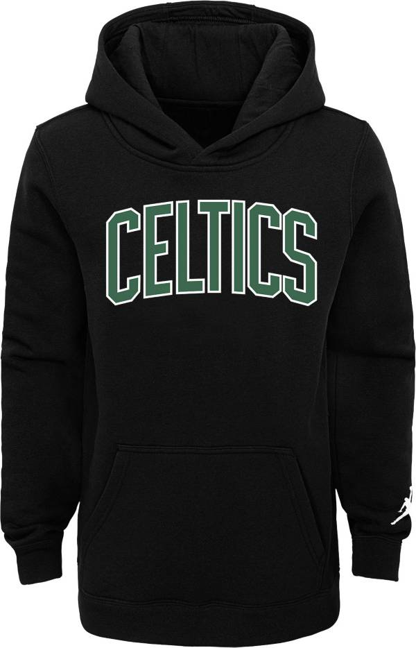 Jordan Youth Boston Celtics Black Statement Pullover Hoodie product image