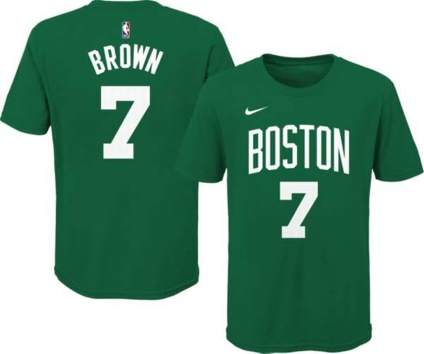 Nike Youth Boston Celtics Jaylen Brown #7 Green Cotton T-Shirt product image