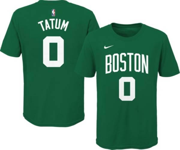 Nike Youth Boston Celtics Jayson Tatum #0 Green Cotton T-Shirt product image