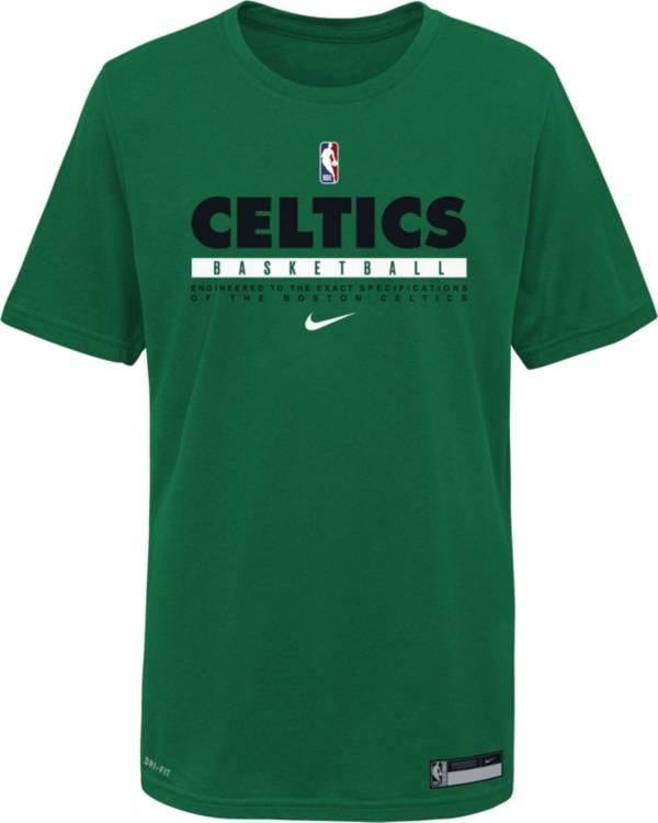 Nike Youth Boston Celtics Green Practice Performance T-Shirt product image