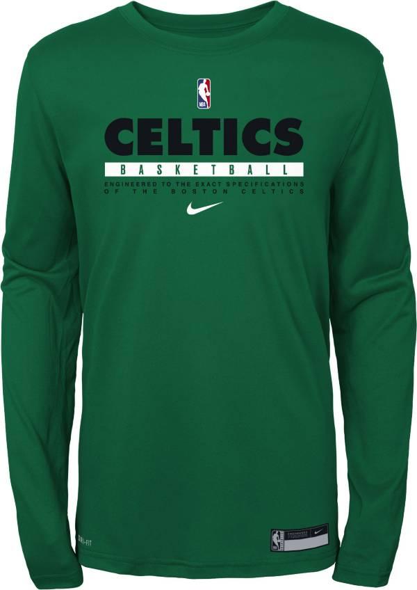 Nike Youth Boston Celtics Practice Performance Long Sleeve T-Shirt product image