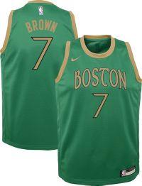 Nike Youth Boston Celtics Jaylen Brown #7 Green Dri-FIT Swingman Jersey