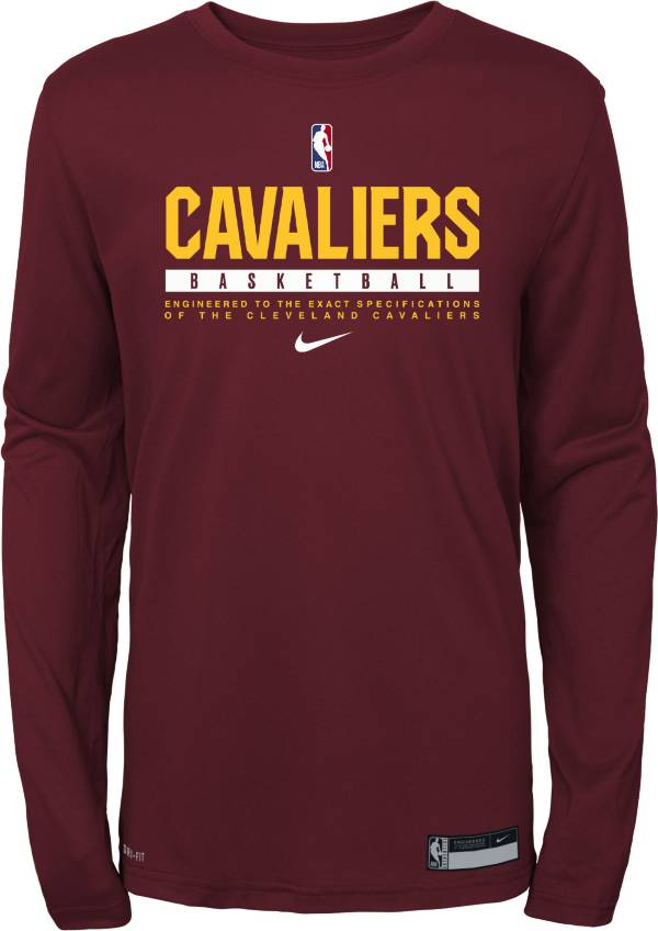 Nike Youth Cleveland Cavaliers Practice Performance Long Sleeve T-Shirt product image