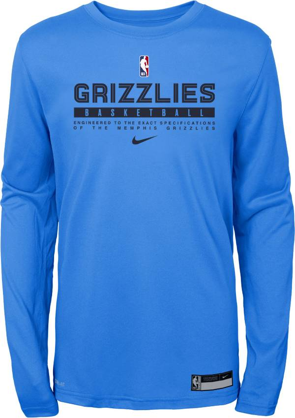 Nike Youth Memphis Grizzlies Practice Performance Long Sleeve T-Shirt product image