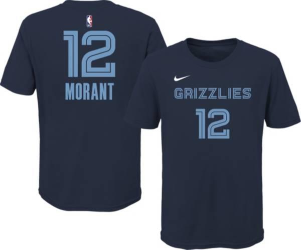 Nike Youth Memphis Grizzlies Ja Morant #12 Blue Cotton T-Shirt product image