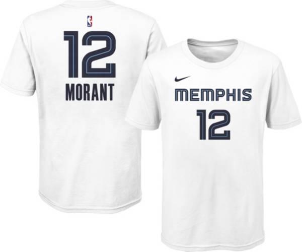 Nike Youth Memphis Grizzlies Ja Morant #12 Cotton White T-Shirt product image