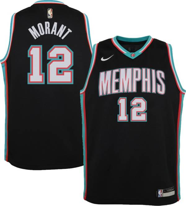 Nike Youth Memphis Grizzlies Ja Morant #12 Dri-FIT Hardwood Classic Black Jersey product image