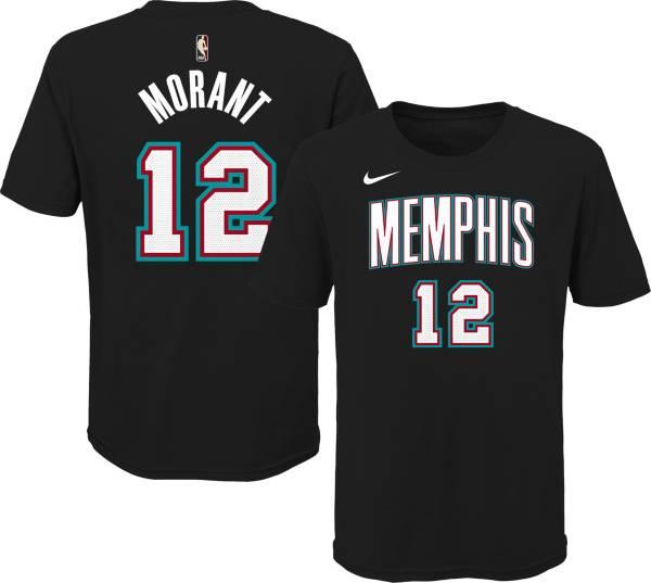 Nike Youth Memphis Grizzlies Ja Morant #12 Hardwood Classic Black T-Shirt product image