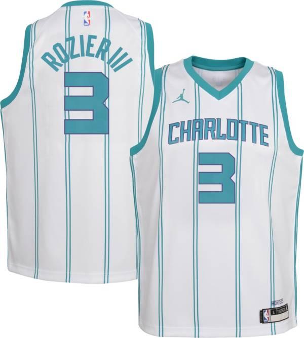 Jordan Youth Charlotte Hornets Terry Rozier III #3 Dri-FIT Swingman White Jersey product image
