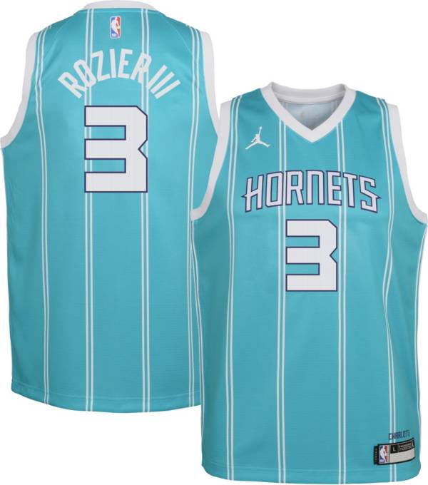 Jordan Youth Charlotte Hornets Terry Rozier III #3 Teal Dri-FIT Swingman Jersey product image