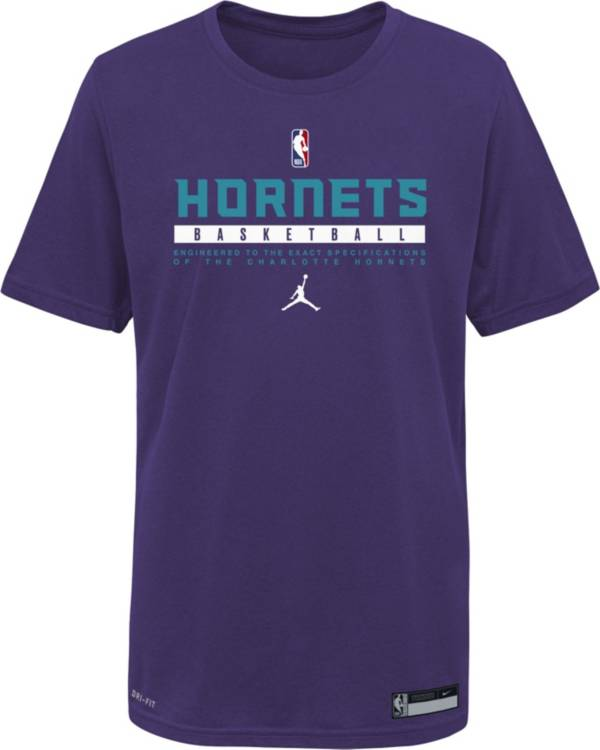 Nike Youth Charlotte Hornets Purple Practice Performance T-Shirt product image