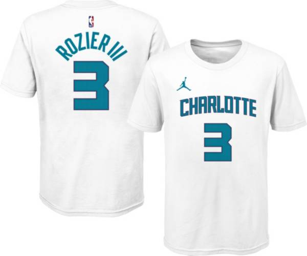 Jordan Youth Charlotte Hornets Terry Rozier III #3 Cotton White T-Shirt product image