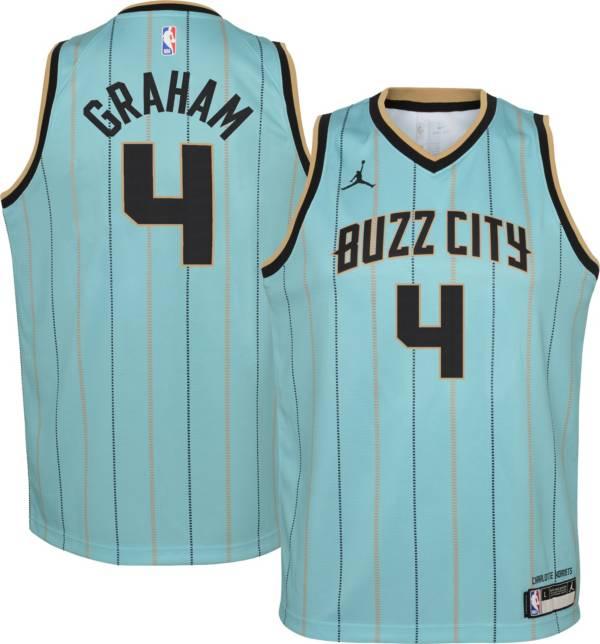 Jordan Youth 2020-21 City Edition Charlotte Hornets Devonte' Graham #4 Dri-FIT Swingman Jersey product image
