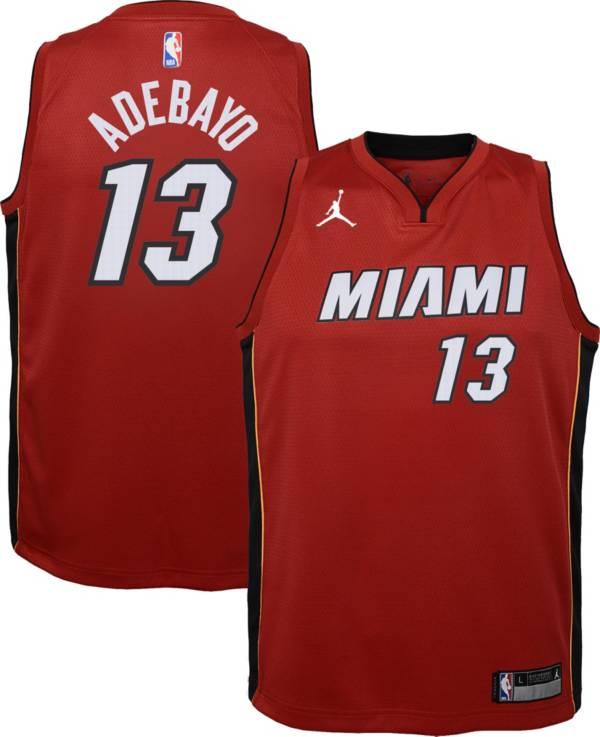 Jordan Youth Miami Heat Bam Adebayo #13 Red 2020-21 Dri-FIT Statement Swingman Jersey product image