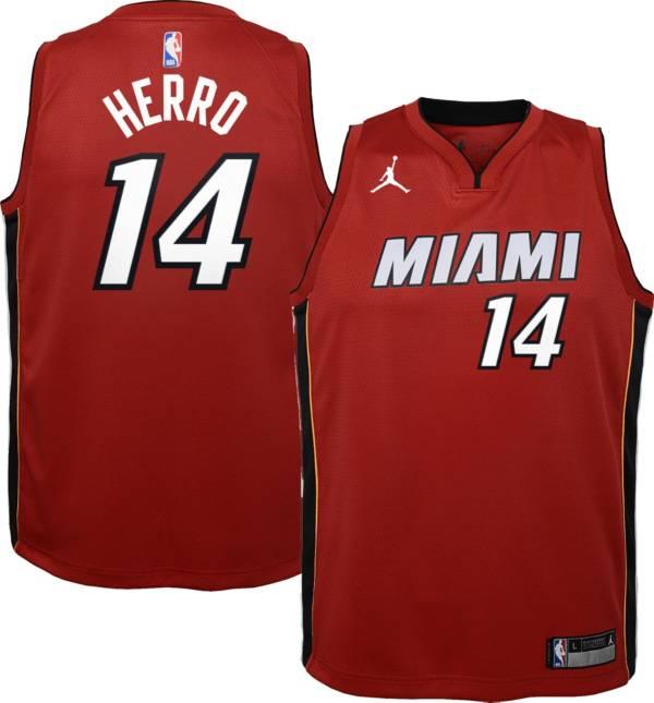 Jordan Youth Miami Heat Tyler Herro #14 Red 2020-21 Dri-FIT Statement Swingman Jersey product image
