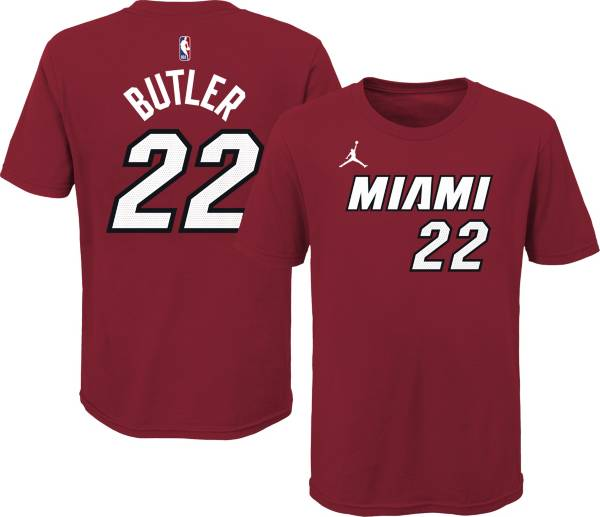 Jordan Youth Miami Heat Jimmy Butler #22 Red Statement T-Shirt product image