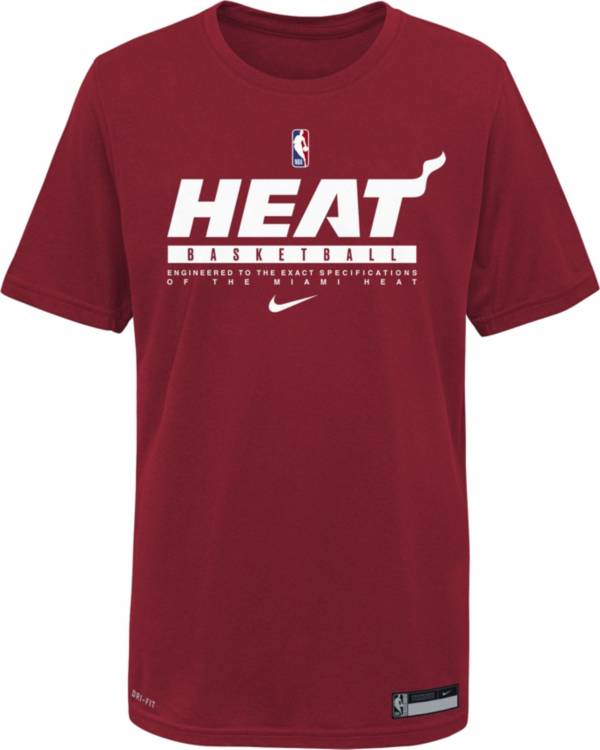 Nike Youth Miami Heat Red Practice Performance T-Shirt product image