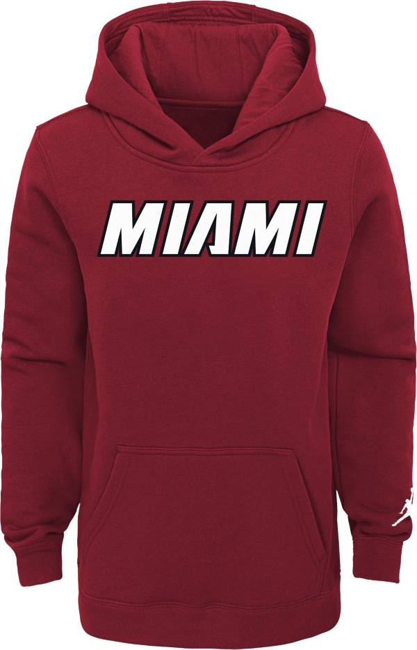 Jordan Youth Miami Heat Red Statement Pullover Hoodie product image